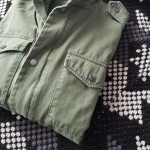 bell sleeves army green jacket